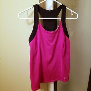 Under Amour Womens Racerback Fitted Top Size L